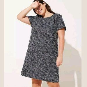 LOFT Plus Multi-color Spacedye Shift Dress